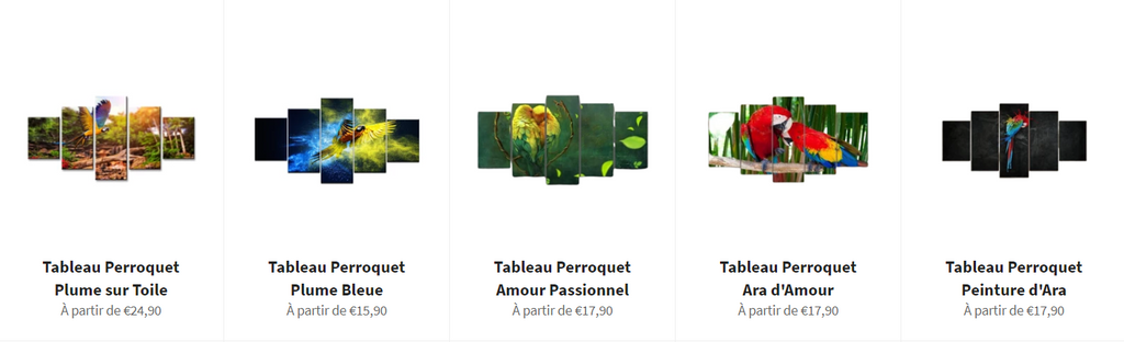 Collection tableaux perroquet