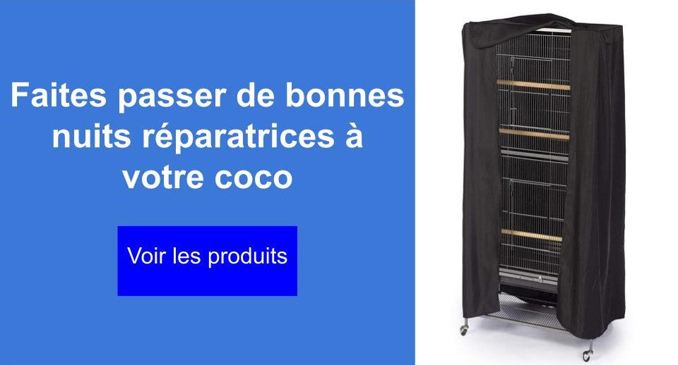 housse cage perroquet