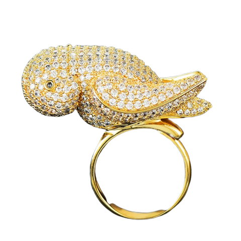 Bague Perroquet<br> Ailes d'Or