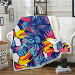Couverture Perroquet Toucan Multicolore