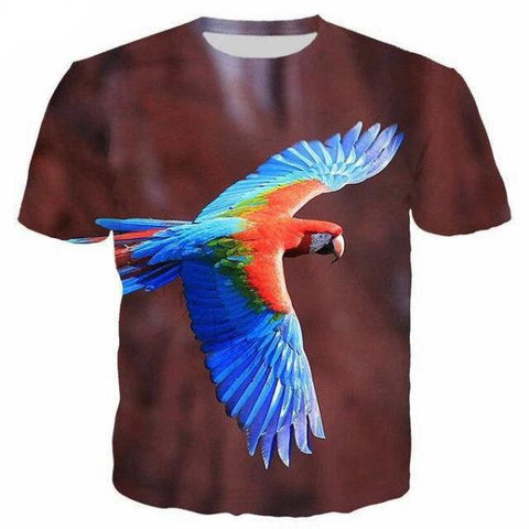 T-Shirt Perroquet Ara Volant | Perroquet-Royal