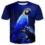 T-Shirt Perroquet Bleu | Perroquet-Royal