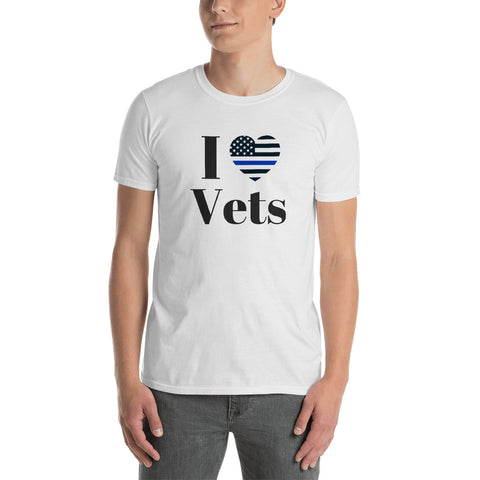 I Love Vets T-Shirt- 90% Of Proceeds Go To Vets