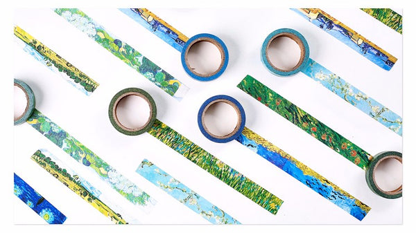 8 Piece Van Gogh Washi Set