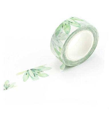Green Lotus Washi Tape