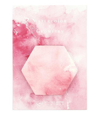 Pink Watercolor Hexagon Memo Pad