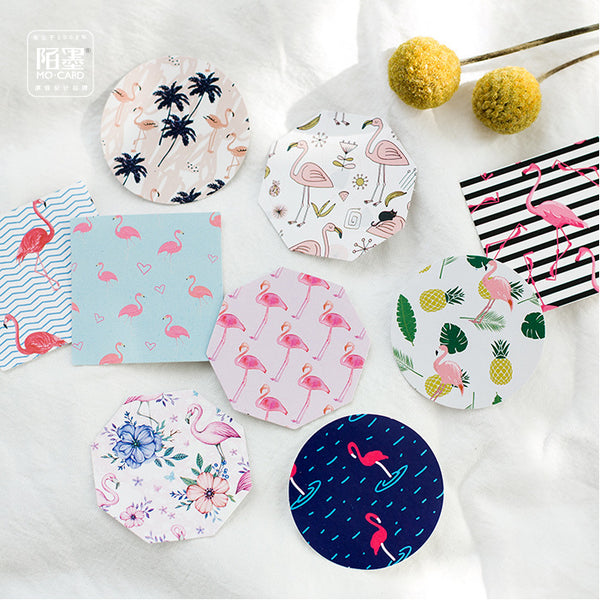 Pink Flamingo Patterned Stickers - 2 Pack