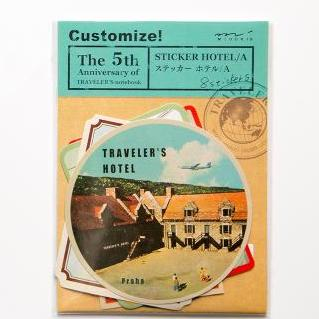 Vintage Travel Stamps Stickers