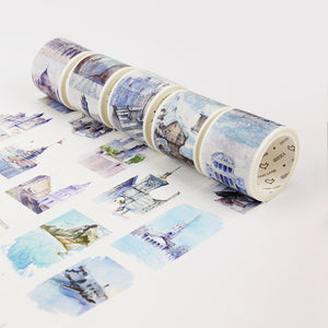 Famous Landmarks Travel Washi Tape
