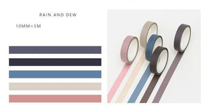 5 Piece Classic Washi Set- Rain and Dew