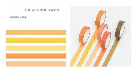5 Piece Classic Washi Set- Autumn Leaves