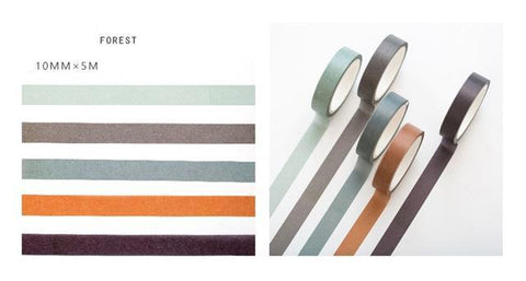 5 Piece Classic Washi Set- Forest