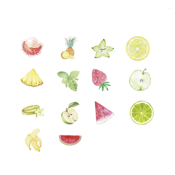 Cartoon Summer Fruit Stickers