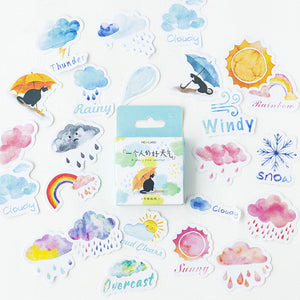 Watercolor Weather Stickers