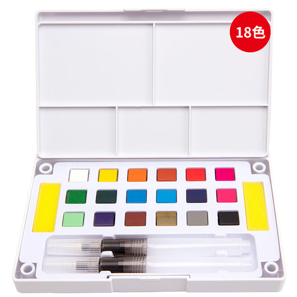 Watercolor Paint Set with Brushes Included