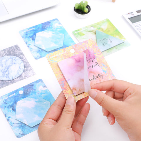 4 Piece Watercolor Sticky Note Pad Set