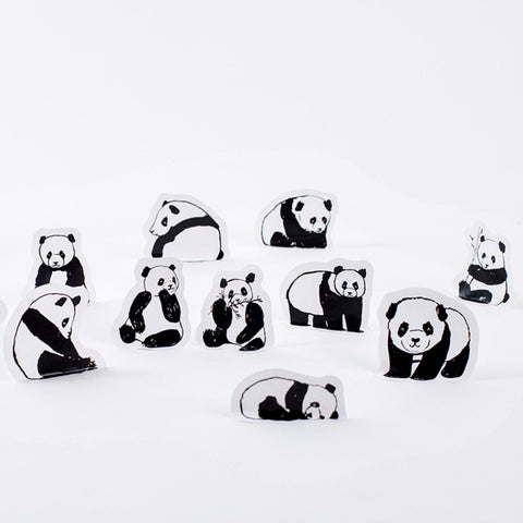 Set of 45 Panda Stickers