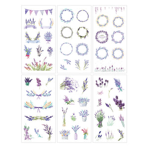 6 Sheets Lavender Wreaths and Bunches Stickers