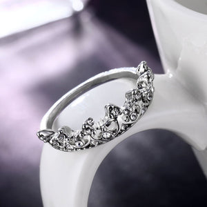crystal crown ring - Hanna Rings