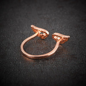 Adjustable Angel Wings Ring - Hanna Rings