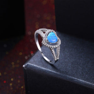 Blue Fire Opal Ring - Hanna Rings