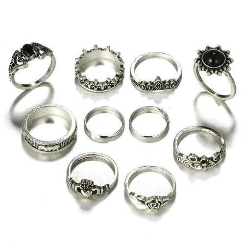 10pcs/Set Bohemia Rings - Hanna Rings