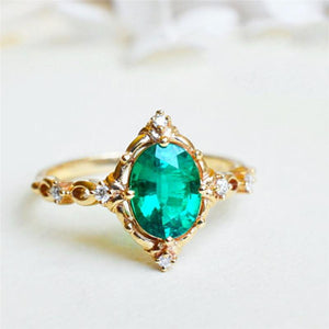 Green Forest Princess Ring - Hanna Rings