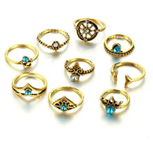 Load image into Gallery viewer, 9pcs/Set Bohemia  Fishtail Rings - Hanna Rings