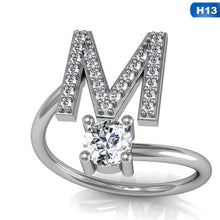 Load image into Gallery viewer, 26 Letters Silver Ring - Hanna Rings