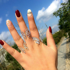 Butterfly Wings Crystal Ring - Hanna Rings