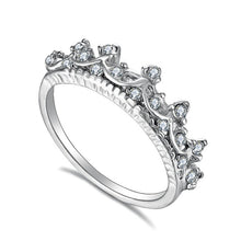 Load image into Gallery viewer, crystal crown ring - Hanna Rings