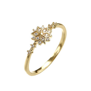 Tiny Snowflake  Ring - Hanna Rings