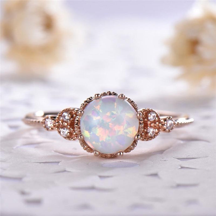 2019 New Opal Ring - Hanna Rings