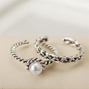 2PCS Fashion Vintage Silver Open Ring - Hanna Rings
