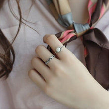 Load image into Gallery viewer, 2PCS Fashion Vintage Silver Open Ring - Hanna Rings