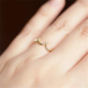 Golden Plating Color Crown Ring - Hanna Rings