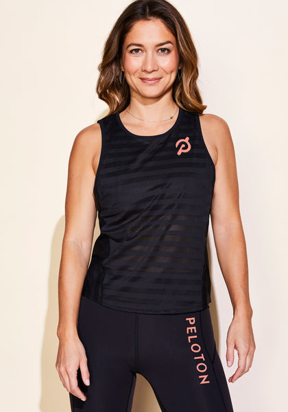 Peloton Off and Running Tank (Coral Logo)
