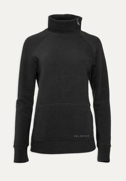 Rib Side Zip Sweatshirt