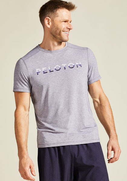 Peloton Heather Grey Tech Tee