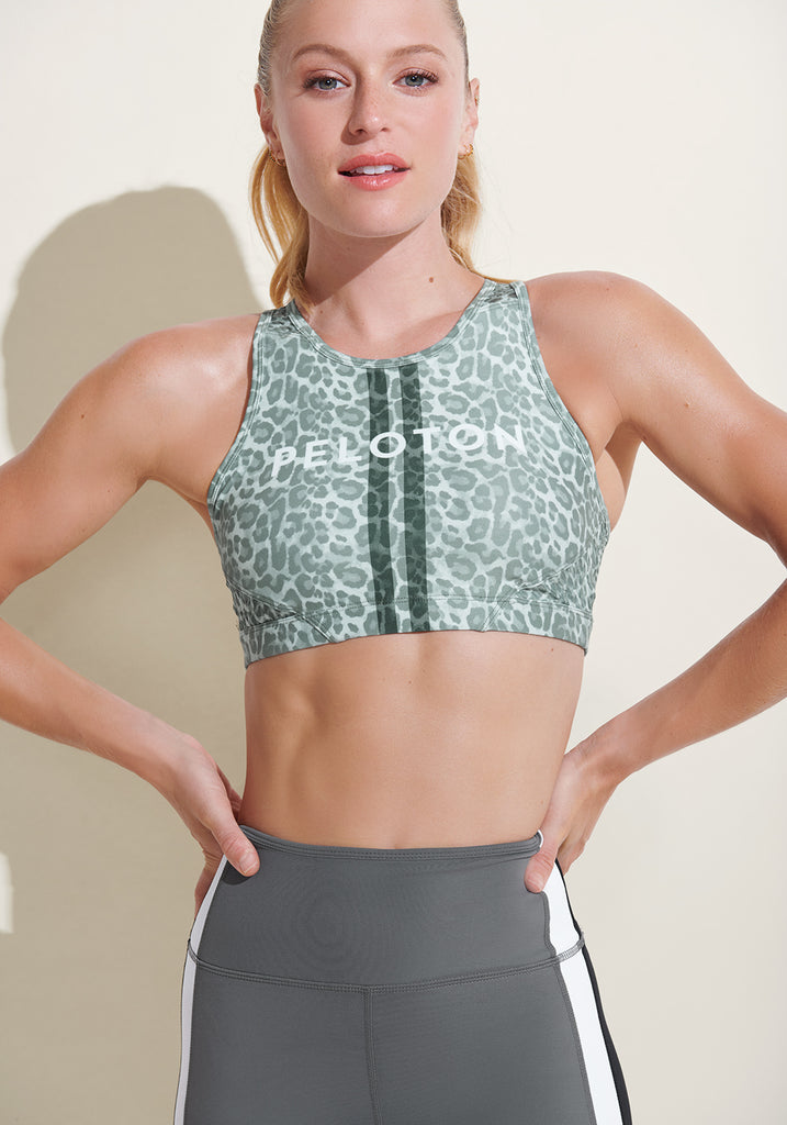Peloton Safari Cheetah High Neck Bra 2.0