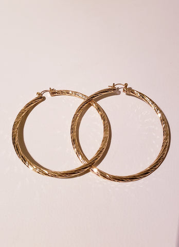Florida Mama Gold Hoops