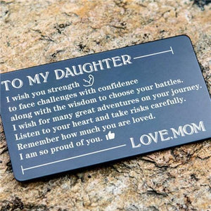 Mom To Daughter - Listen To Your Heart - Engraved Wallet Card