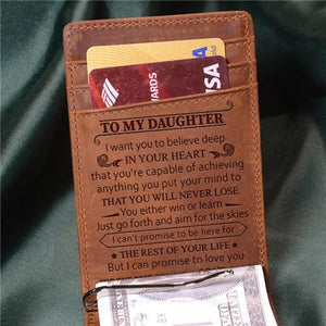 Mom To Daughter - Never Lose - Money Clip Wallet