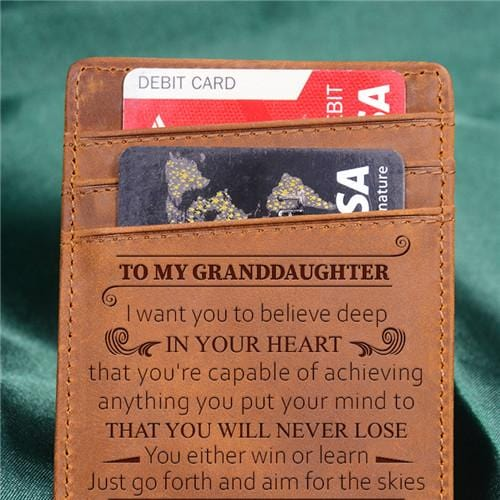 To My Granddaughter - Never Lose - Money Clip Wallet