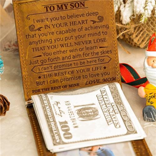 Mom To Son - Never Lose - Money Clip Wallet
