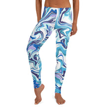 Load image into Gallery viewer, NEW! Blue Marble Leggings For Women
