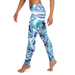 NEW! Blue Marble Leggings For Women