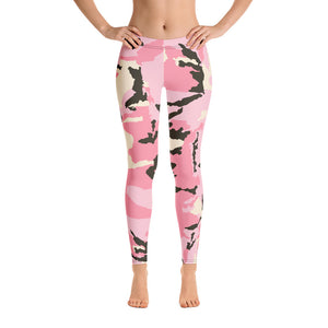 NEW! Pink Camouflage Leggings For Women