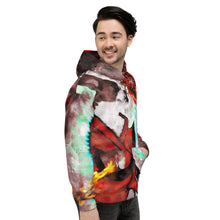 Load image into Gallery viewer, Dog-Fu Service Dog Lovers and Martial Artist Painting Unisex Hoodie