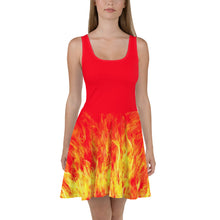 Load image into Gallery viewer, Fire Starter Skater Dress